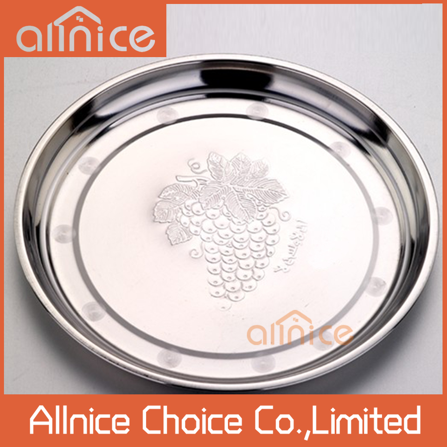 Allnice Africa stainless steel fruit tray/stainless steel embossed serving platter