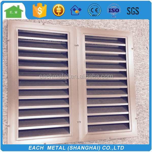 Lower price motorized louver window/operable aluminum sun louvers