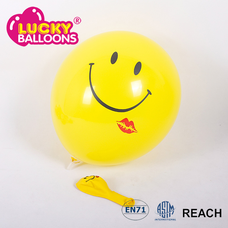 Promotion party cartoon smiley face balloons latex for advertising