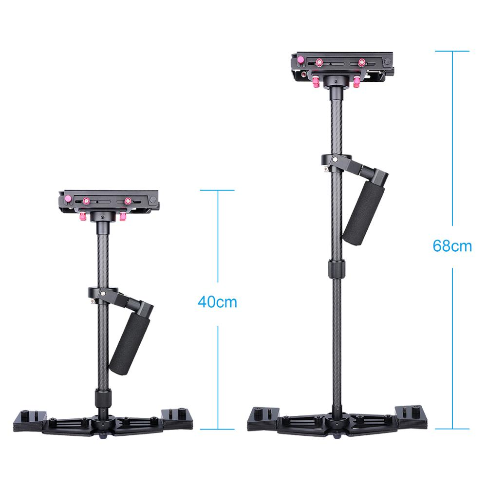YELANGU S700 China Carbon Fiber DSLR Video Handheld Camera Stabilizer