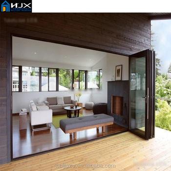 Low-e Glas Schiebetür,Luxus-interieur Holztür,Aluminium Akkordeon ...