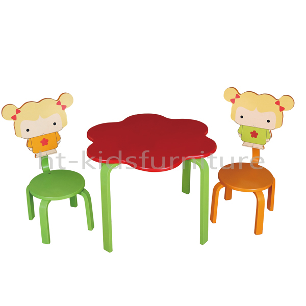 HT TC016 58x40x52/82cm MDF E1 And Pinewood Kids Modern Dressing Table  Designs With