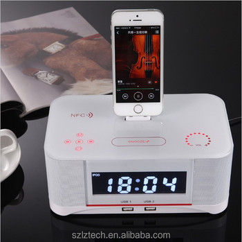 10w Boombox Nfc Blue Tooth Speaker Boom Audio Mobile Phone Charger Docking Station