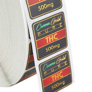 Green Foil Gold foil Custom printed Label Paper Logo Sticker printing