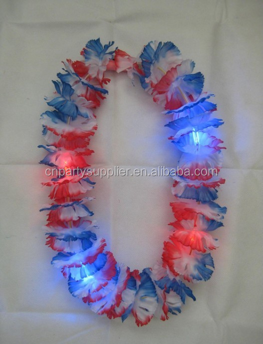 LED Silk Flower Leis