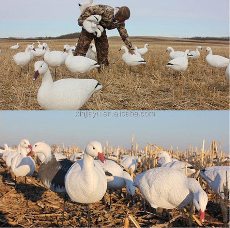 Collapsible fullbody snow goose decoys for hunting lifelike EVA snow goose hunting decoys