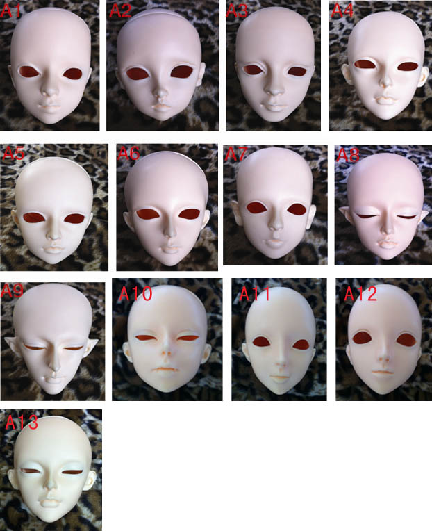 1 3 1 4 1 6 BJD SD doll single head face up pratice