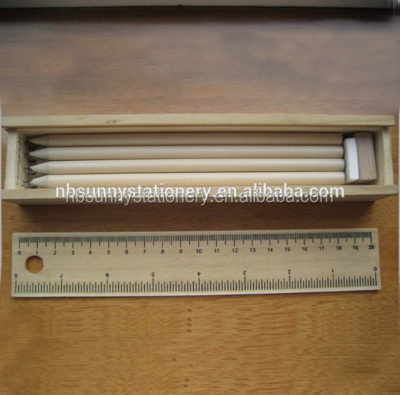 2015 Free Sample Natural Wooden Lead Pencils from China