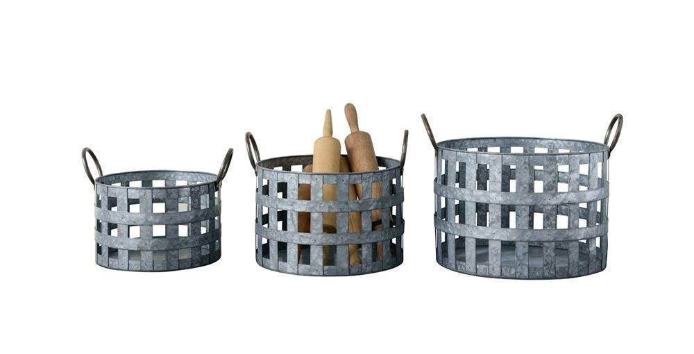 Metal Baskets With Handles