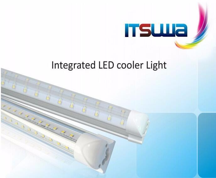 Gas Station Led Cooler Door Lights V Shape Commercial Cooler ...