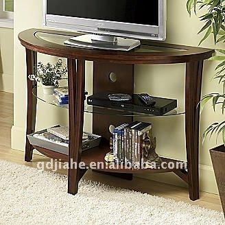 Livingroom LCD TV Table Design Lcd Wooden Table Top Tv Shelf