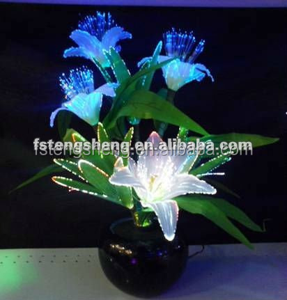 Light fiber optic flower multicolor changing lamp nightlight party show Xmas night lamp lily