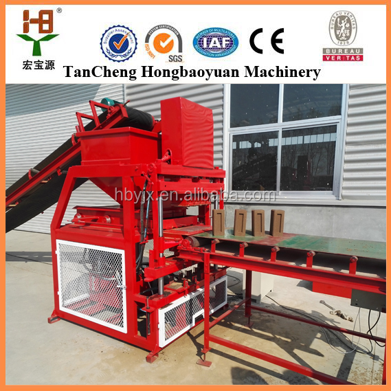 big capacity HBY4-10 no fire soil hydraulic concrete brick making machine price price list in Malaysia