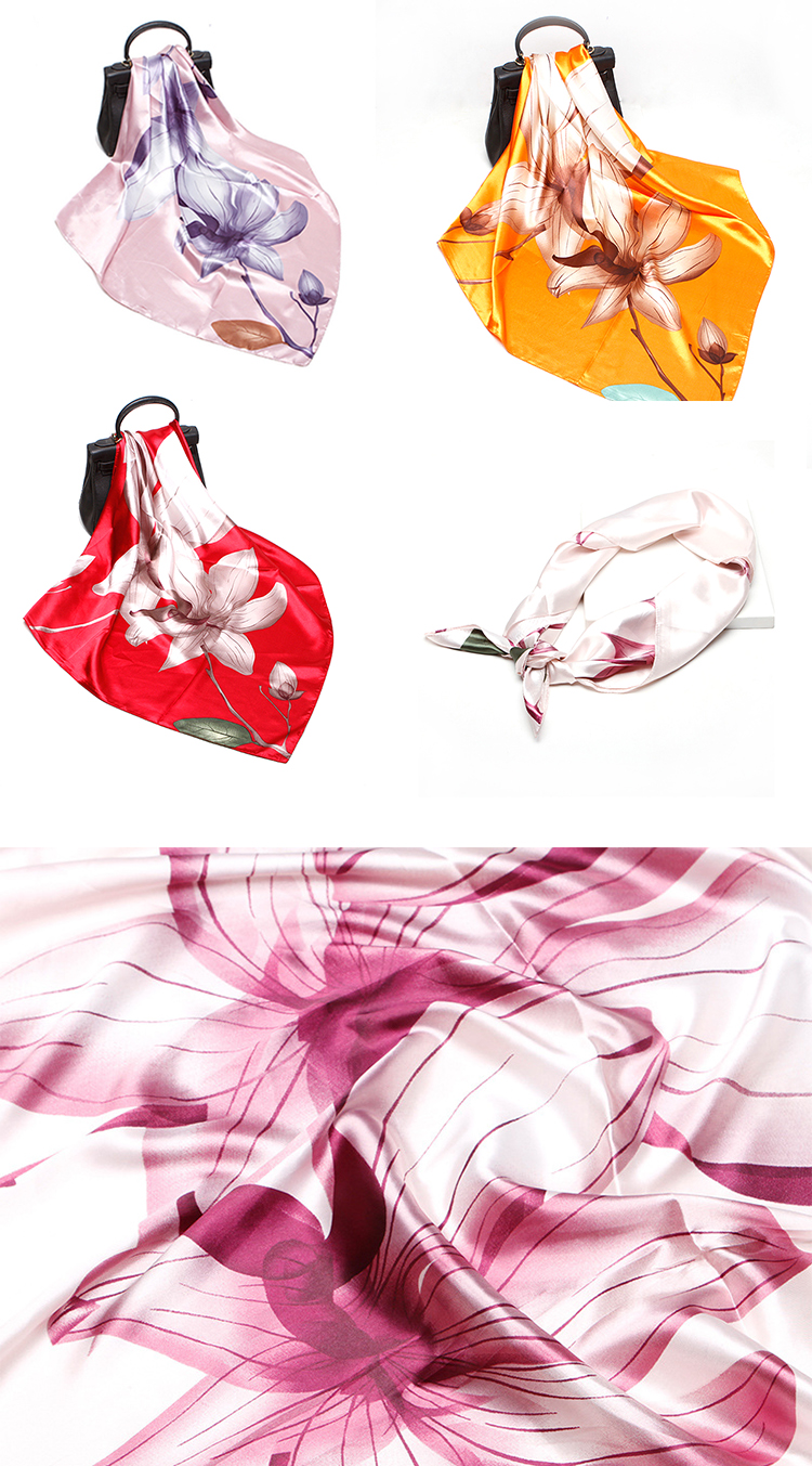 HC-SD005  low price stock women Satin scarf for girls and lady 90*90cm