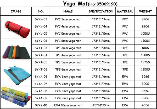 6mm Pvc Odourless Waterproof Yoga Mat Nonslip For Hot Yoga
