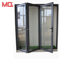 Guangzhou Factory Aluminum Glass Folding Door Commercial Exterior bi folding Doors