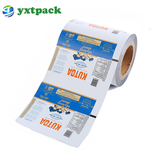 Laminated food packaging plastic roll film /laminating pvc clear film roll packaging for water sachet 500ml/sachets film in roll