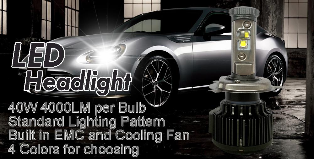 New H4 CREE LED Motorcycle Headlight Bulb 4000LM 40W HiLo 20W Low Beam Conversion Kit 3000K 4300K 6000K DC 12V P43T Headlamp (5)