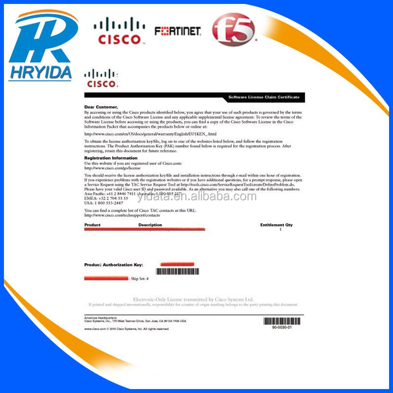 Cisco Firepower 2130 chassis license L-FPR2130T-TMC=, View L-FPR2130T-TMC=,  CISCO Product Details from Shenzhen Hryida Technology Ltd  on Alibaba com