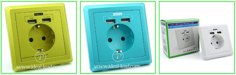 euro usb wall socket 1