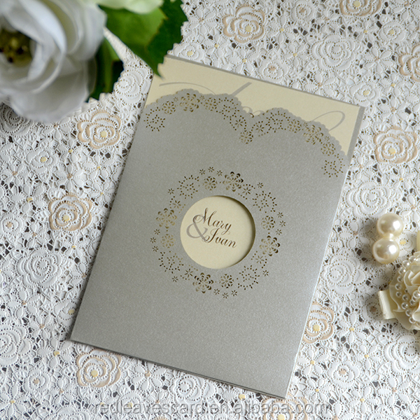 Embellished White Folio Customized Color Silk Wedding Invitation Folder