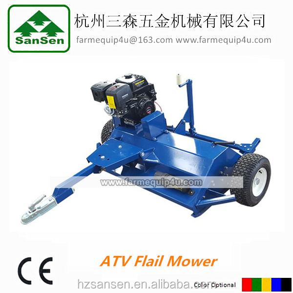 ATV Flail mower with 13hp/15hp engine;Towable flail mower for ATV; ATV attachment