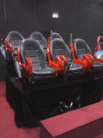 United States amusement arcade hydraulic 5d cinema system 7d simulator cinema