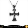 fashionable hot sale israel cross pendant, black metal pendant