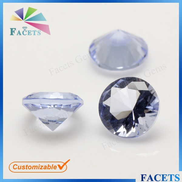 FACETS GEMS AAA Quality Birth Stone Round Brilliant Cut Loose Amethyst Corundum