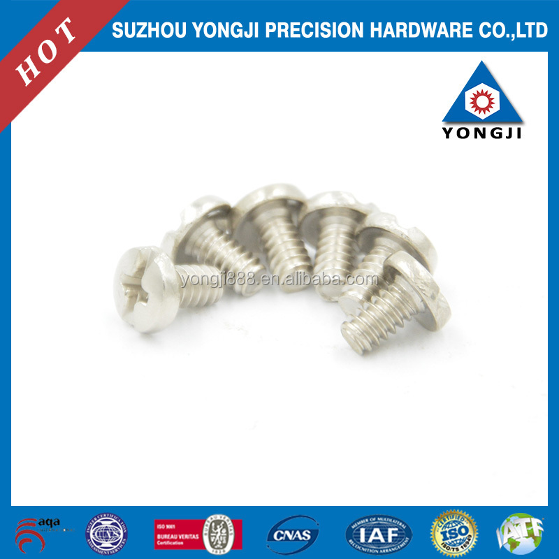 slotted head screw m4x10 yellow zinc