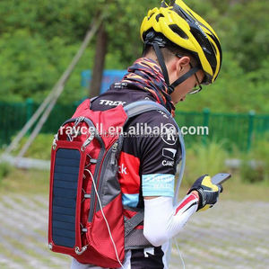2016 Solar Charger Backpack (7w) INCLUDING 10,000 mAh Power Bank and 1.8L Hydration Pack