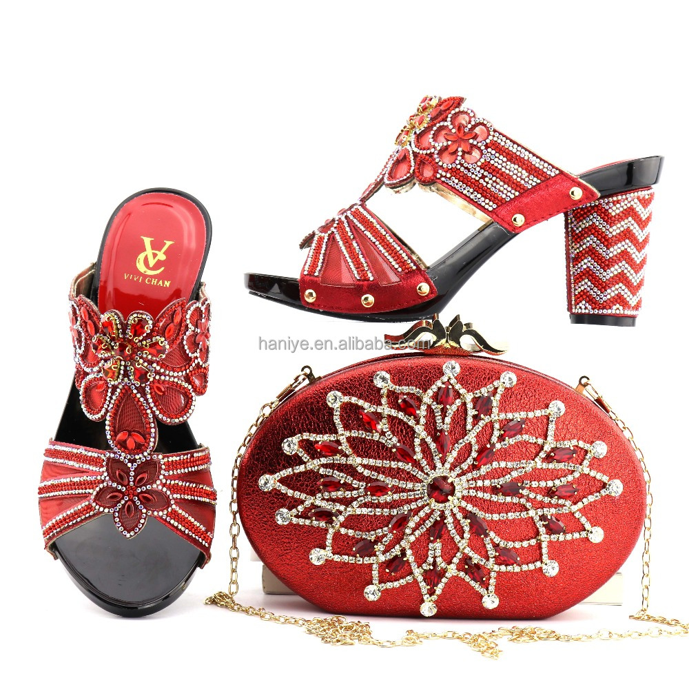 and with Italian Clutch wedding shoes bags party African heel shoes matching style bag shoes high Nigeria bag sets Lady q8fXwc