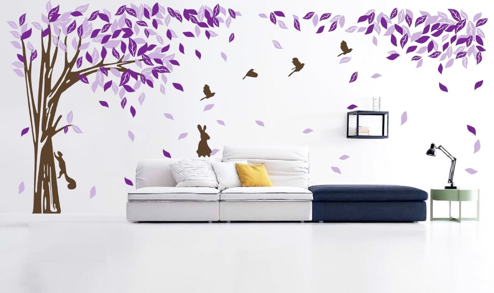 bedroom wall decal sticker decor ideas tree flower plum blossom bedroom sticker