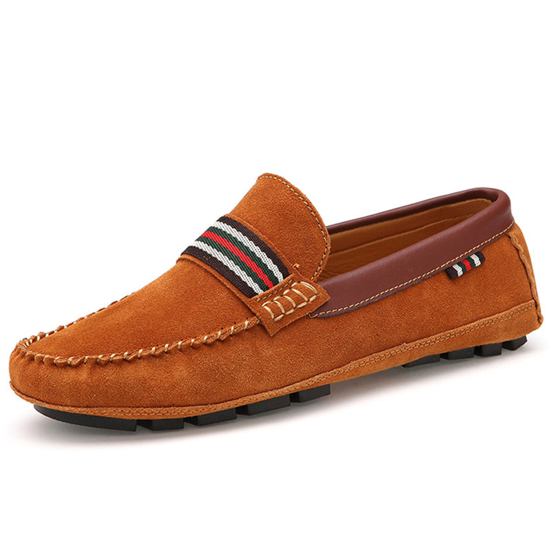 Newest 2015 Man Shoes Moccasin Loafers Slip-On Fashion Casual Breathable Massage Man Flats Shoes Sapatos Masculinos Orange 38-43