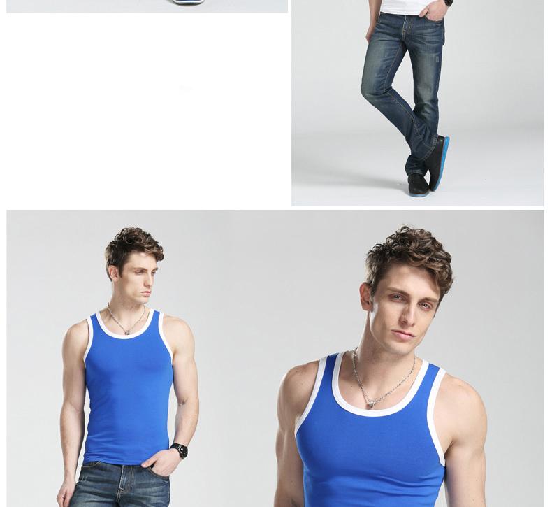 951ba5aa12ebda High Quality Slim Cotton Plain Tight Mens Vests   Tank Top For Men ...
