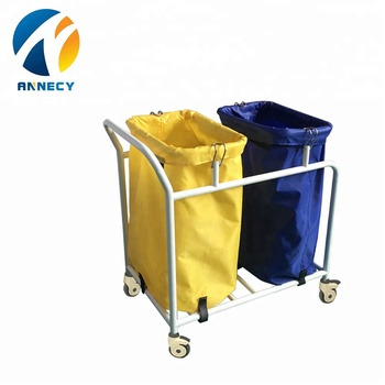AC-WT006 Medical Appliances hospital cleaning Waste Trolley bin specification with good price