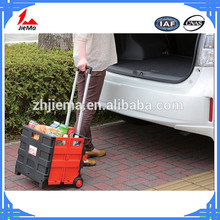 Multi-function Plastic foldable shopping trolley porable cart