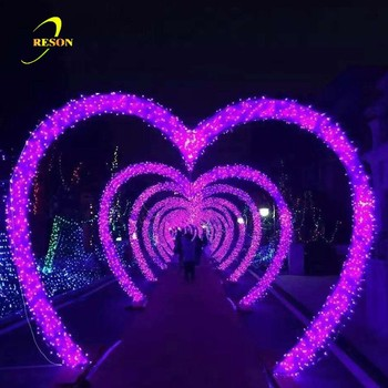 Wedding Valentine Marriage Decoration Heart Shaped Outdoor Lighting Arches