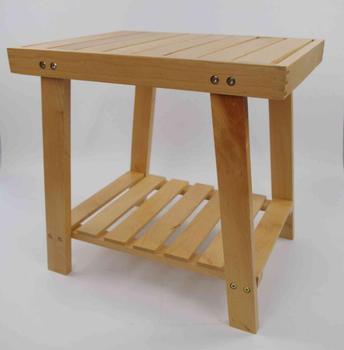 Tabouret Bois Douche chaise en bois simple conception durable en bois salle de bains