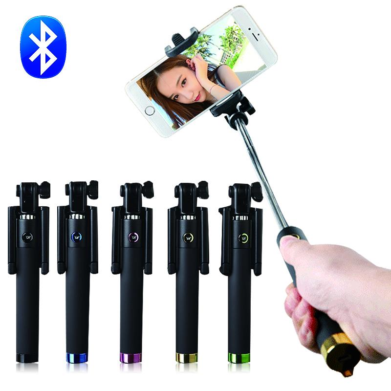 Универсальный Монопод Селфи Палка Bluetooth для Беспроводной Выдвижной для IOS/Android system Self Stick Перш Selfies