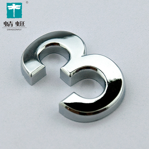 China supplier ABS plastic chromed hotel door number plates