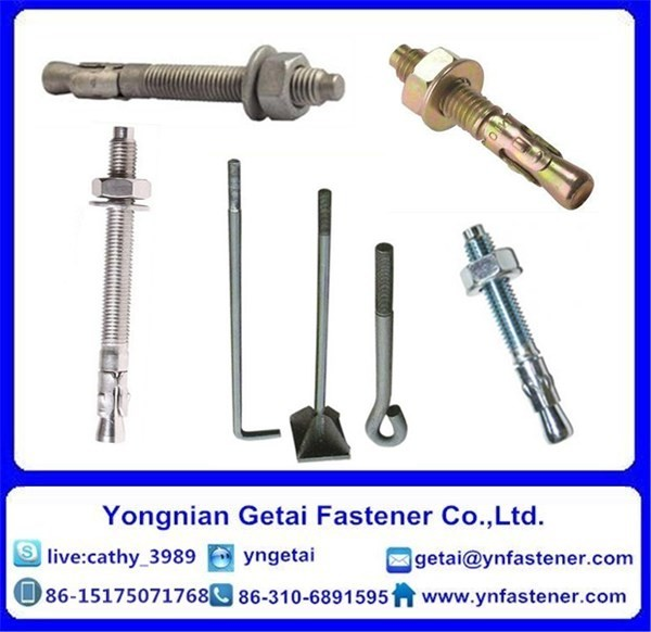 Color plain/zinc plated /black/HDG foundation anchor bolt