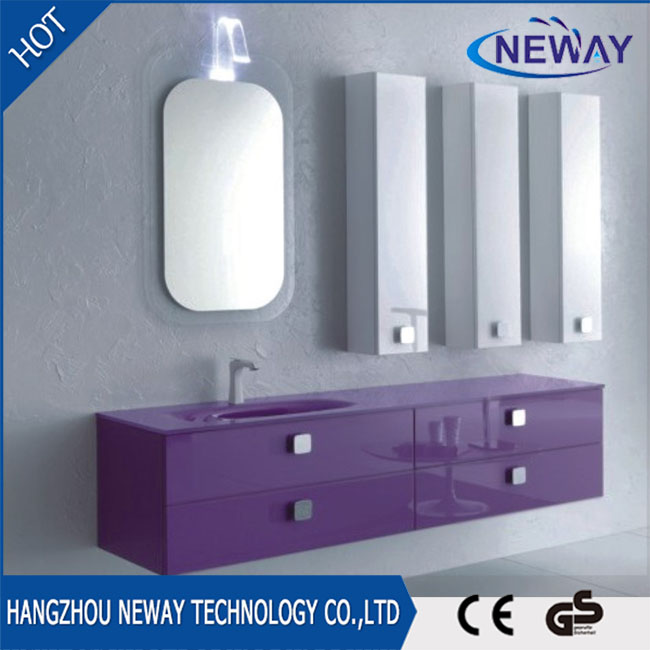 Wall mounted pvc bathroom basins and vanities