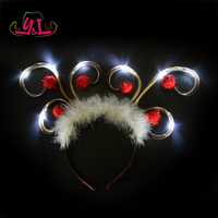 Christmas Decoration 2019 LED Light Up Reindeer Antler Headband