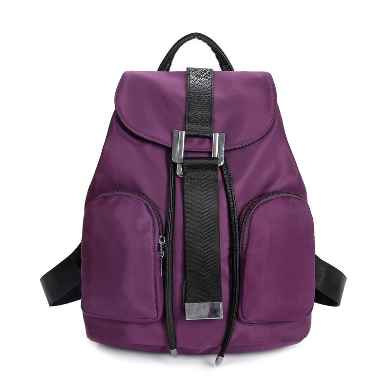 Lightweight Backpack 2015 New Student Travel Bag Leisure Women Shoulder Bag Waterproof Nylon Bag Ladies Purple mochila A5169