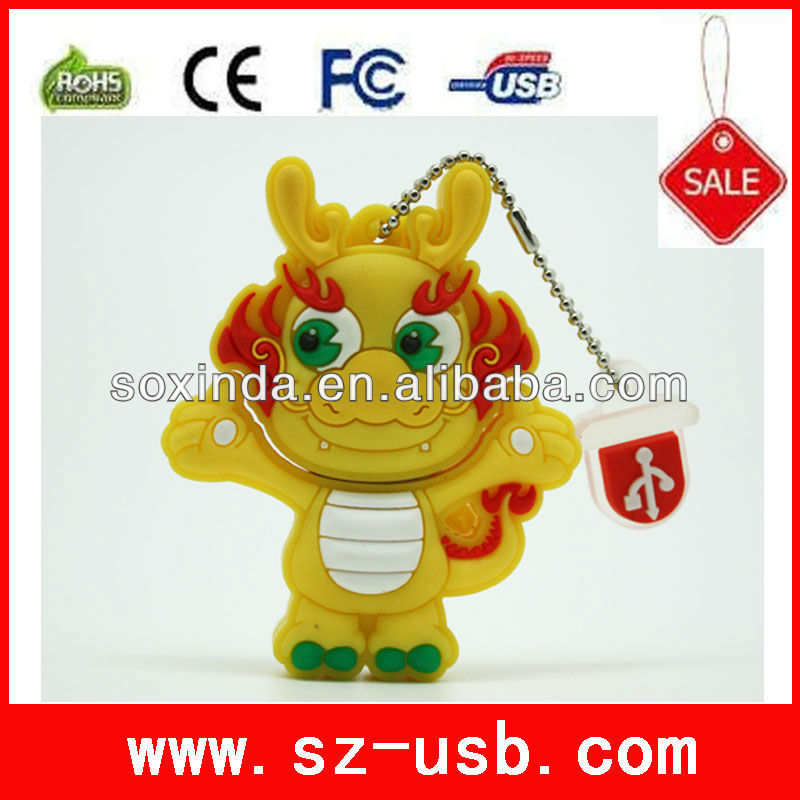 full capacity promotional cartoon usb 1G to 64G