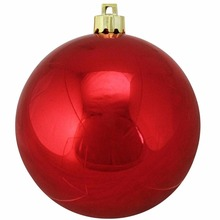 red gold and white plastic Christmas ball baubles ornaments