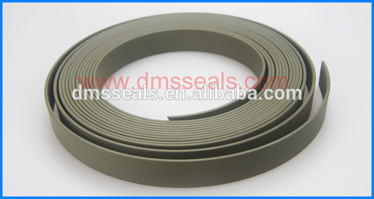 40% bronze filled PTFE guide tape with brown and green color