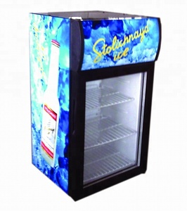 58 liters Beverage Cooler and Refrigerator, Mini Fridge with Glass Door, Perfect for Soda Beer or Wine