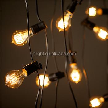 Nieuwe Bulbrite Outdoor Indoor Black String Light Clear Gloeilampen ...
